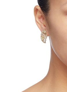 Anabela Chan 'Lemon Slice' diamond gemstone stud earrings