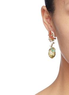 Anabela Chan 'Lemon' diamond gemstone drop earrings