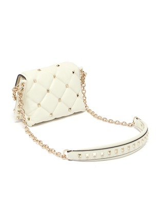Detail View - Click To Enlarge - VALENTINO - 'Candystud' mini quilted leather shoulder bag