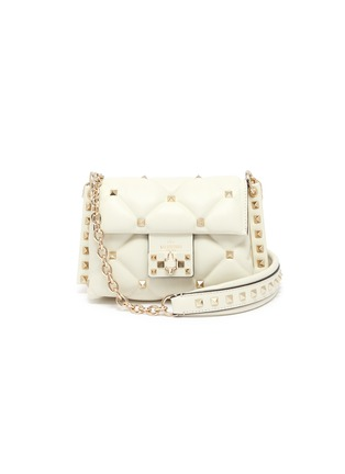 Main View - Click To Enlarge - VALENTINO - 'Candystud' mini quilted leather shoulder bag