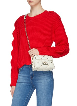 Figure View - Click To Enlarge - VALENTINO - 'Candystud' mini quilted leather shoulder bag