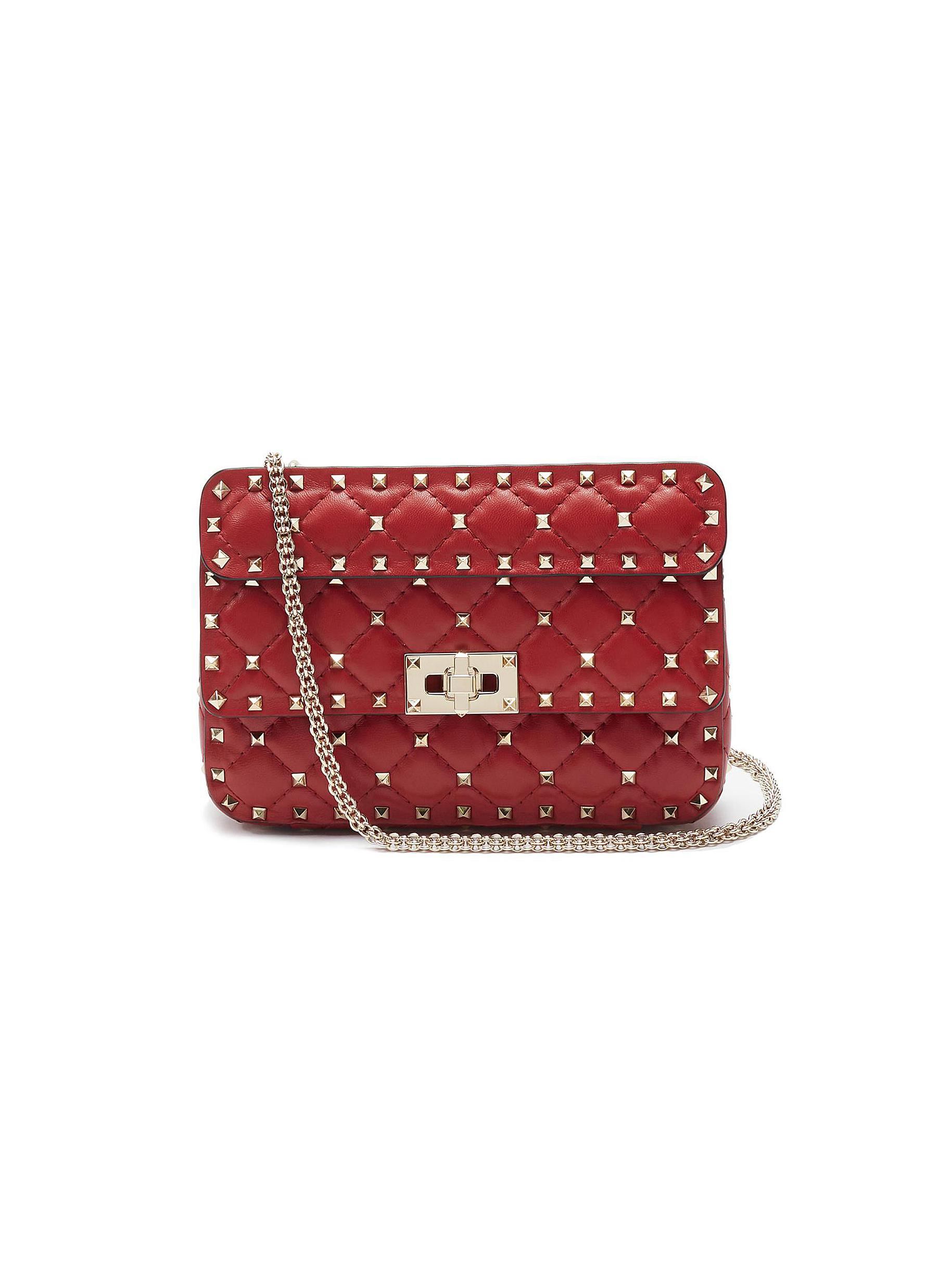 9b4445c1d7 VALENTINO | 'Rockstud Spike' small quilted leather shoulder bag ...