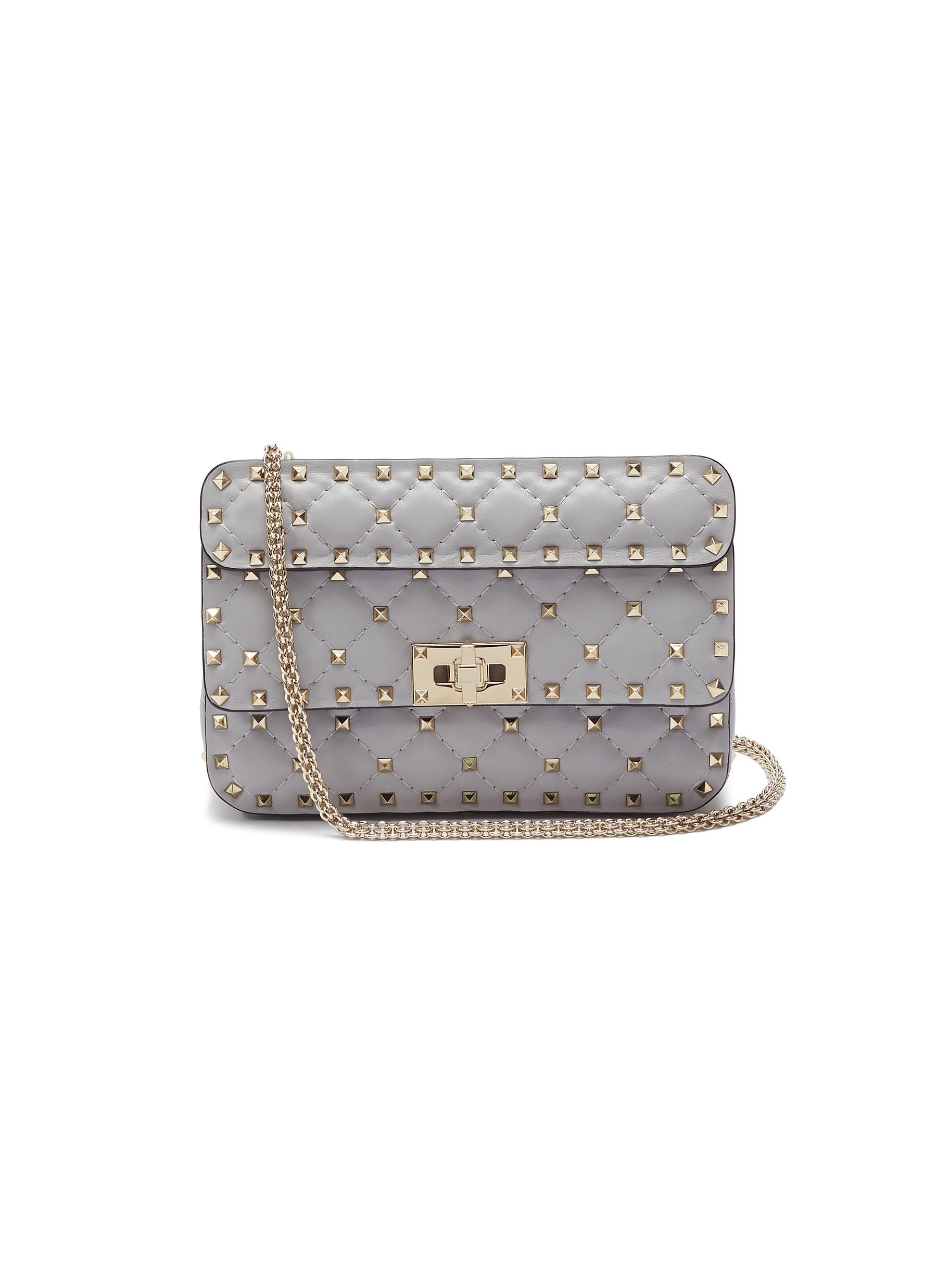 dbfae0db3b Main View - Click To Enlarge - VALENTINO - 'Rockstud Spike' small quilted  leather