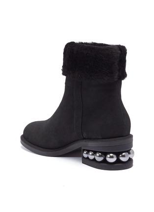 - Nicholas Kirkwood - 'Casati' faux pearl heel shearling ankle boots