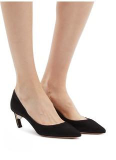 Nicholas Kirkwood 'Mira Pearl' angled heel suede pumps