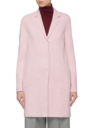 Main View - Click To Enlarge - Harris Wharf London - Notched lapel twill cocoon coat