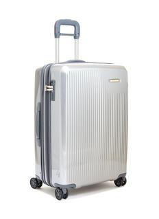Briggs & Riley Sympatico medium expandable spinner limited edition suitcase –Silver