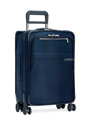- BRIGGS & RILEY - Baseline carry-on expandable spinner suitcase – Navy