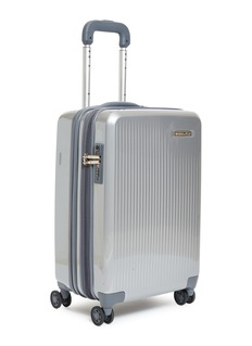 Briggs & Riley Sympatico carry-on expandable spinner limited edition suitcase –Silver