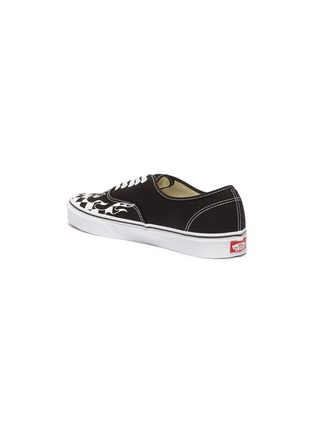 Detail View - Click To Enlarge - VANS - 'Authentic' checkerboard flame canvas sneakers
