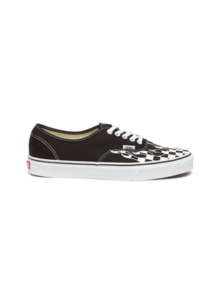 Main View - Click To Enlarge - VANS - 'Authentic' checkerboard flame canvas sneakers