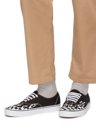 Figure View - Click To Enlarge - VANS - 'Authentic' checkerboard flame canvas sneakers