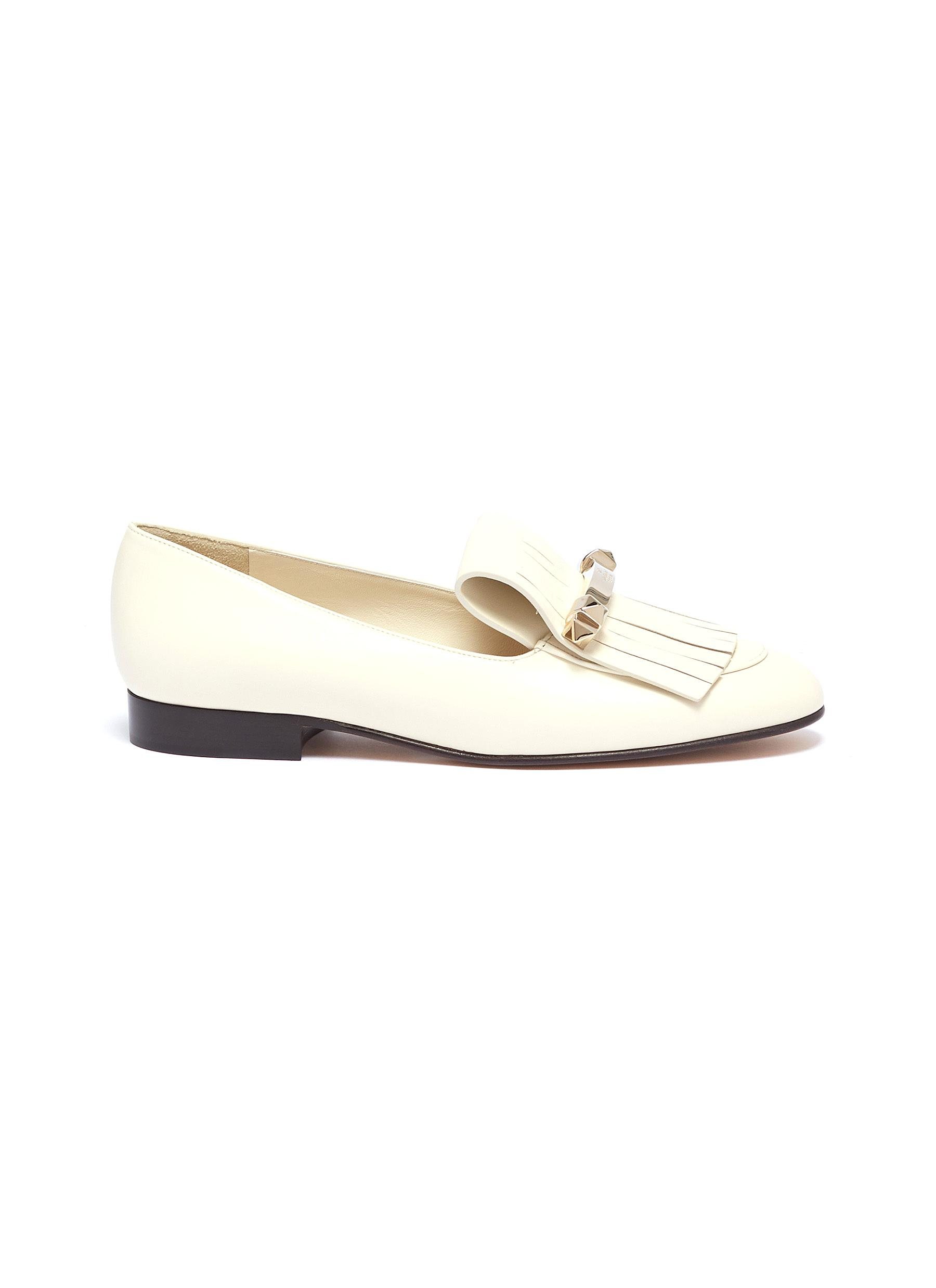 68fb165c789 Main View - Click To Enlarge - Valentino -  Uptown  fringe leather loafers