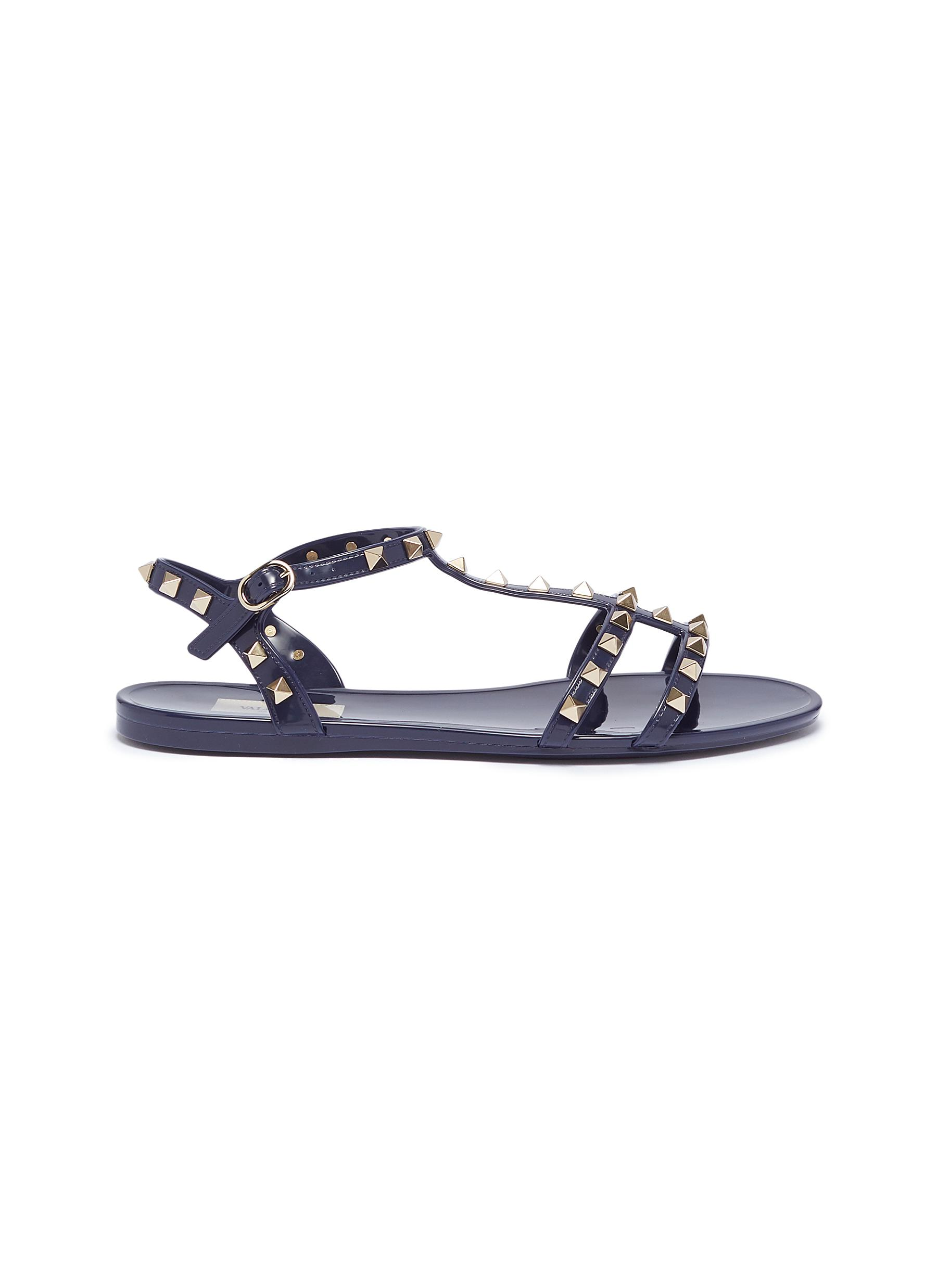 Rockstud caged PVC sandals by Valentino