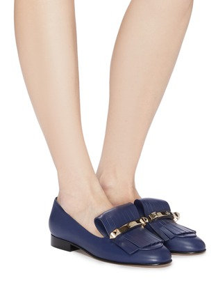 cceff8e05ab Figure View - Click To Enlarge - Valentino -  Uptown  fringe leather loafers