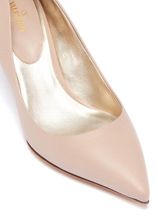 Detail View - Click To Enlarge - Valentino - Rockstud welt leather pumps