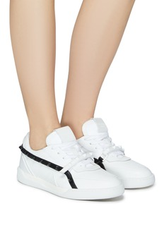 Valentino Rockstud contrast strap leather sneakers