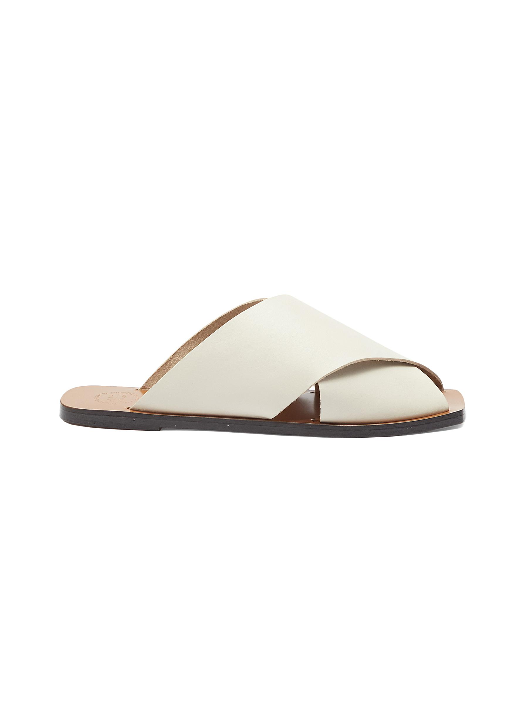 Atp Atelier 'Alicia' Cross Band Leather Slide Sandals