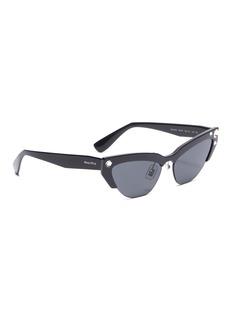 miu miu Glass crystal acetate brow bar cat eye sunglasses
