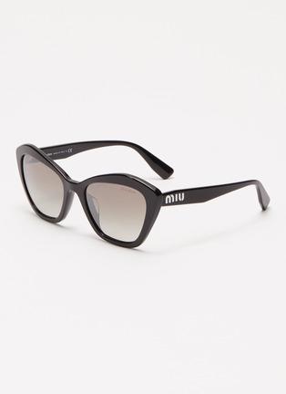 Main View - Click To Enlarge - MIU MIU - Acetate angular frame sunglasses