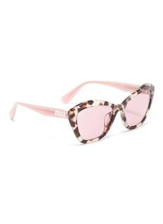 miu miu Tortoiseshell front acetate cat eye sunglasses