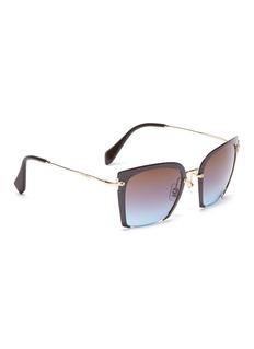 miu miu Cutout acetate front metal square sunglasses
