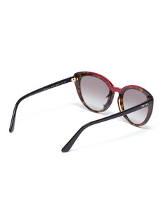 Prada Tortoiseshell colourblock acetate round sunglasses