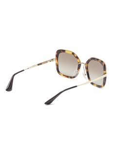 Prada Tortoiseshell acetate rim metal square sunglasses