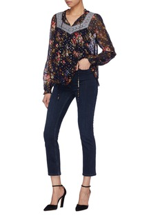 Needle & Thread 'Winter Forest' lace trim floral print  chiffon top