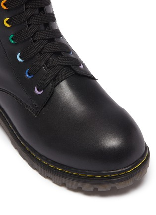 Detail View - Click To Enlarge - WINK - 'Cookie' leather kids combat boots