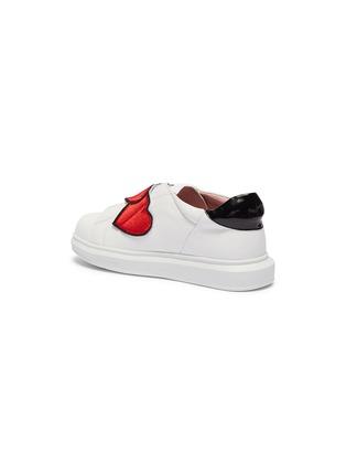 d9dc4debdbf78 'Popcorn' slogan heart appliqué leather kids sneakers