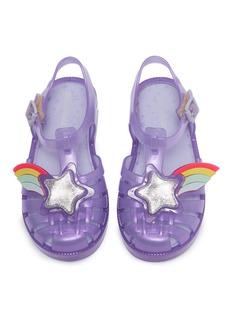 Melissa 'Possession II' star rainbow PVC toddler sandals