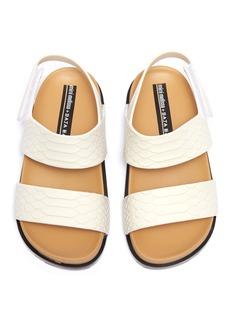 Melissa x Baja East 'Cosmic Python' embossed PVC toddler sandals