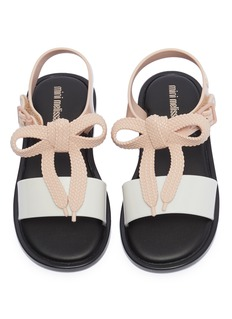Melissa 'Mar' bow colourblock PVC toddler sandals