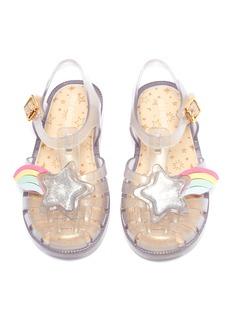 Melissa 'Possession II' glitter star rainbow PVC toddler sandals