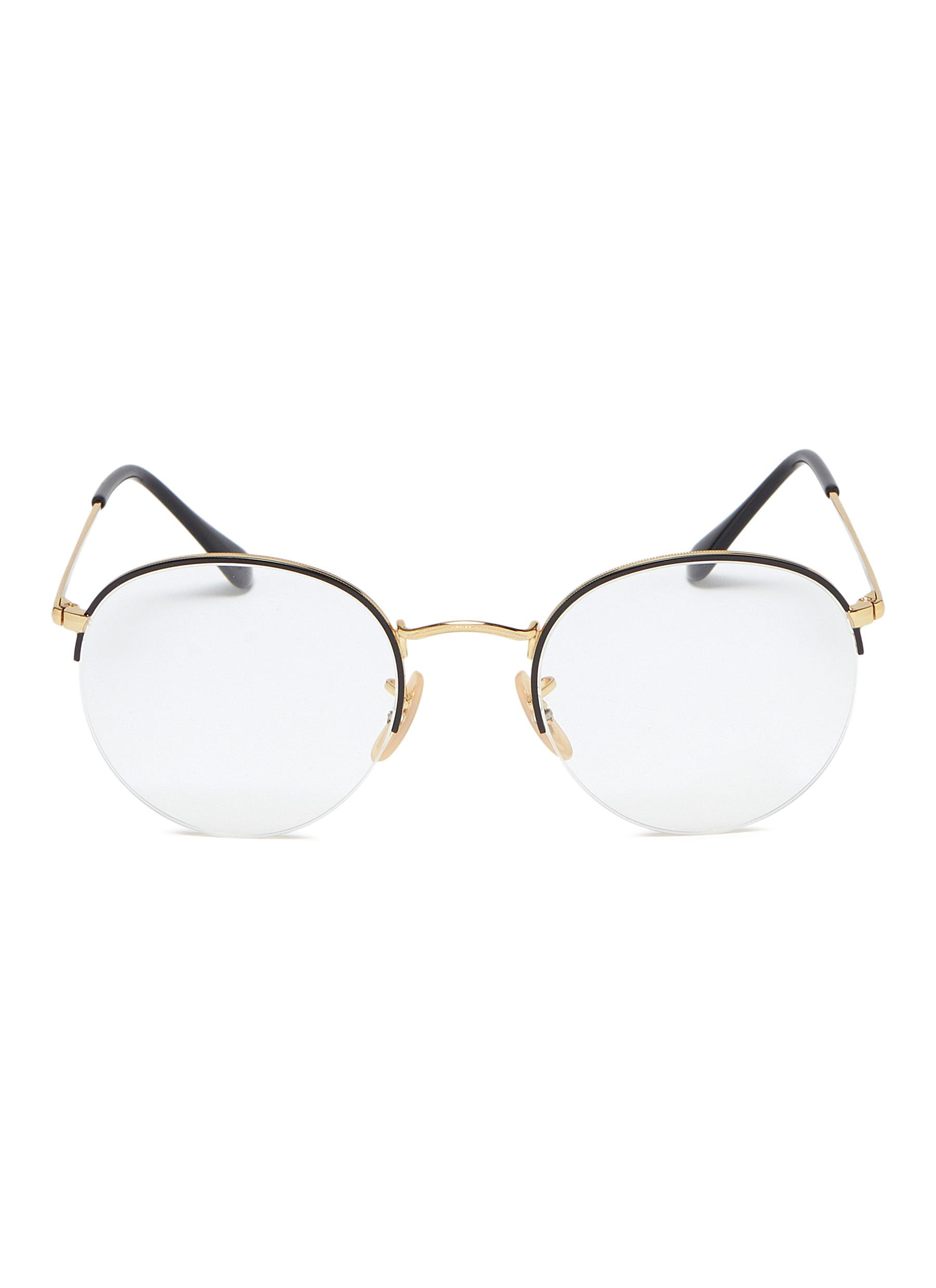 cc061bccc424f1 Ray-Ban.  Gaze  metal round optical glasses