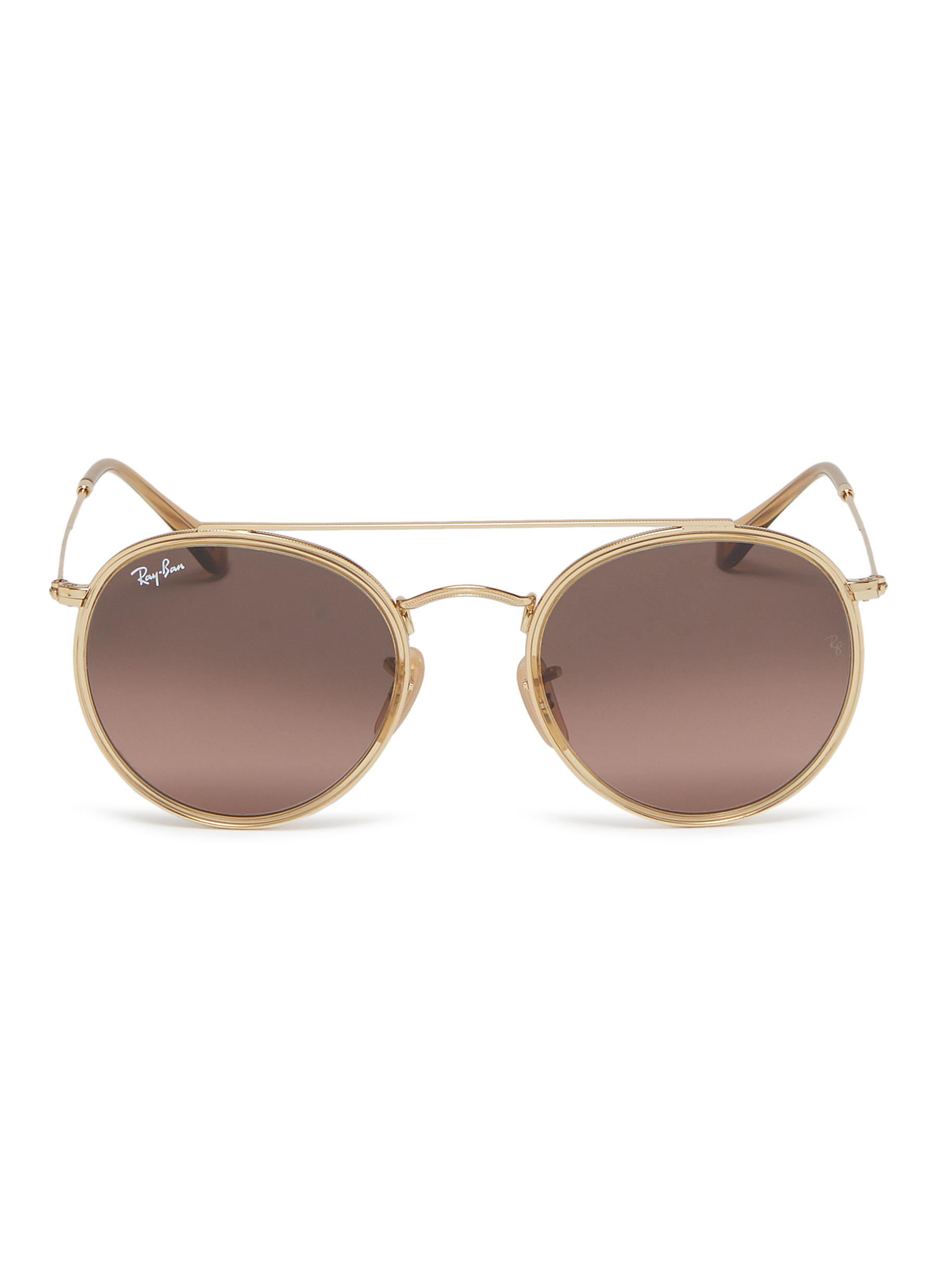 2be6ba6fc27 Ray-Ban.  RB3647  metal round aviator sunglasses