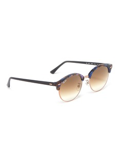 Ray-Ban 'Clubround Fleck' acetate rim metal round sunglasses