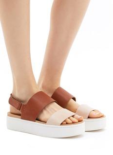 Vince 'Westport' leather slingback platform sandals