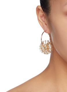 Anton Heunis Detachable flower drop hoop earrings