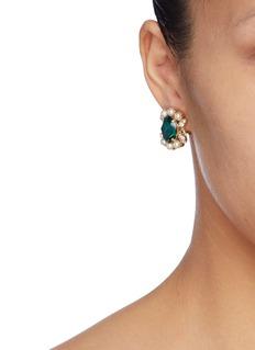 Anton Heunis Swarovski pearl glass crystal cluster stud earrings