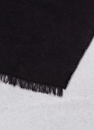Detail View - Click To Enlarge - VALENTINO - Logo jacquard wool-silk scarf