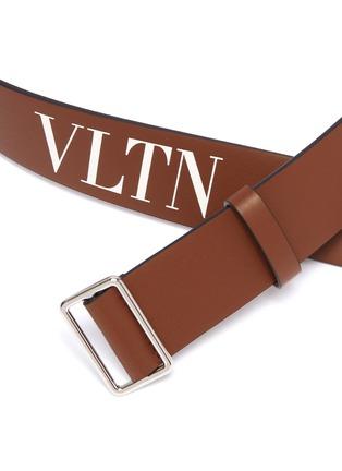 Detail View - Click To Enlarge - VALENTINO - Valentino Garavani Logo print leather belt