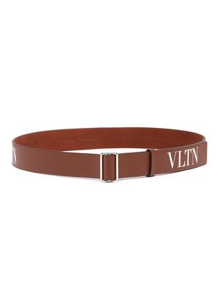 Main View - Click To Enlarge - VALENTINO - Valentino Garavani Logo print leather belt