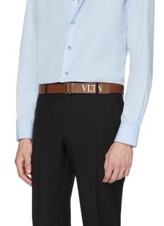 Valentino Logo print leather belt