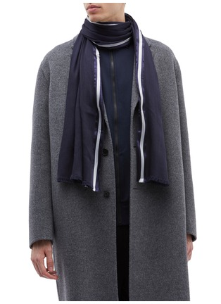 Figure View - Click To Enlarge - Valentino - Contrast border scarf