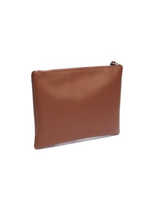 Detail View - Click To Enlarge - VALENTINO - Valentino Garavani Logo print leather zip pouch