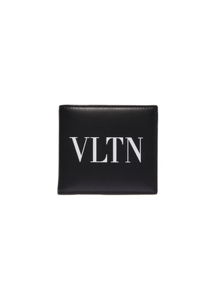 Main View - Click To Enlarge - Valentino - Logo print leather bifold wallet