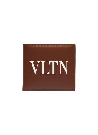 Main View - Click To Enlarge - VALENTINO - Valentino Garavani Logo print leather bifold wallet