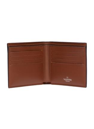 Figure View - Click To Enlarge - VALENTINO - Valentino Garavani Logo print leather bifold wallet